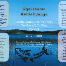 Ngā Roto Tapokapoka - Dune Lakes Restoration